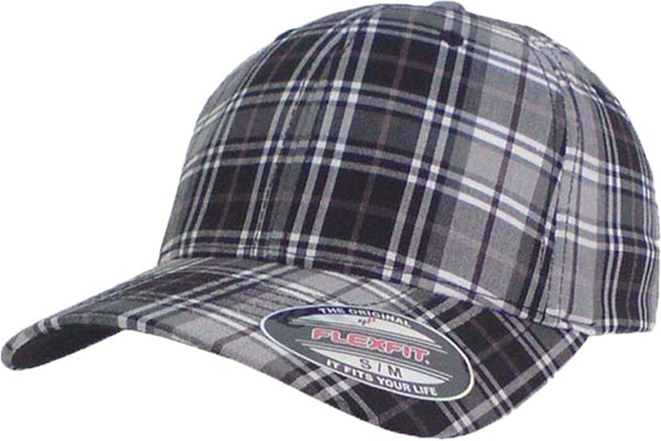 Bild von Original Flexfit Cap Basecap Checker in Schwarz-Weiss-Purple, Limited Edition