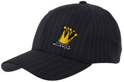 Bild von Original Flexfit Pinstripe in Dark Grey mit Stick Crown
