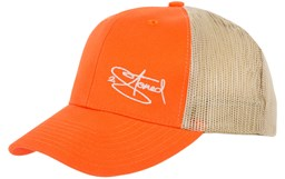 Bild von Retro Trucker Cap mit Stick Classic Logo in Orange-Khaki