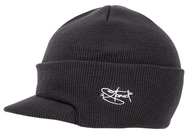 Bild von Original 2stoned Visor Beanie Cap Deluxe in Dark Grey Solid Kindergröße
